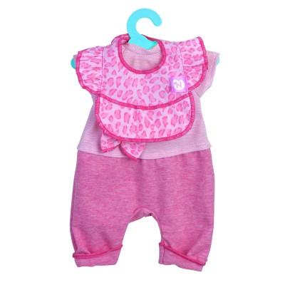 Nenuco Vêtements pour nenuco 35 cm : tenue rose avec col léopard