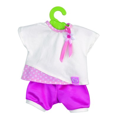 Nenuco Vêtements pour nenuco 35 cm : tee-Shirt blanc avec short rose