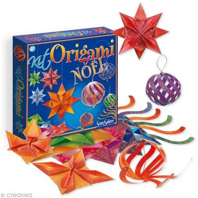 Sentosphère Origami : Papier à plier et découper : Noël