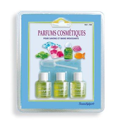 Sentosphère Recharge : 3 flacons de parfums pour savon et bain moussant