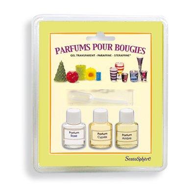 Sentosphère Bougie étui de 3 parfums