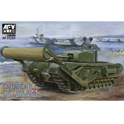 Afv Club maquette char : churchill tlc type a avec carpet laying devices, 1944