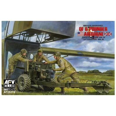 Afv Club maquette 1/35 : canon antichars ordnance britannique mk.4 qf 6 pounder