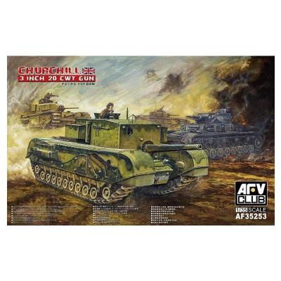 Afv Club maquette char 1/35 : char moyen britannique churchill 3 inch gun