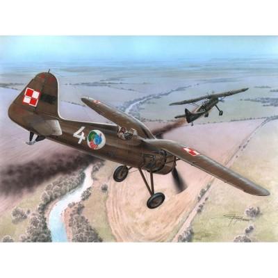 Azur Maquette avion militaire : pzl p.11c first shots