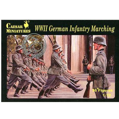 Caesar Miniatures figurines 2ème guerre mondiale : infanterie allemande en marche