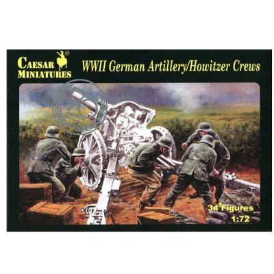 Caesar Miniatures figurines 2ème guerre mondiale : artilleurs allemand pour canon