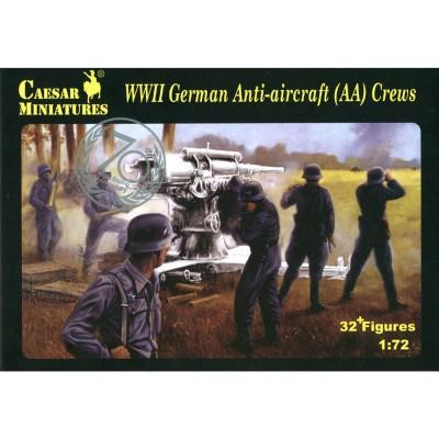 Caesar Miniatures figurines 2ème guerre mondiale : artilleurs allemands canon anti-Aérien