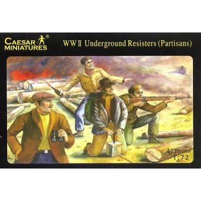 Caesar Miniatures figurines 2ème guerre mondiale : résistants et partisans 1941-1945
