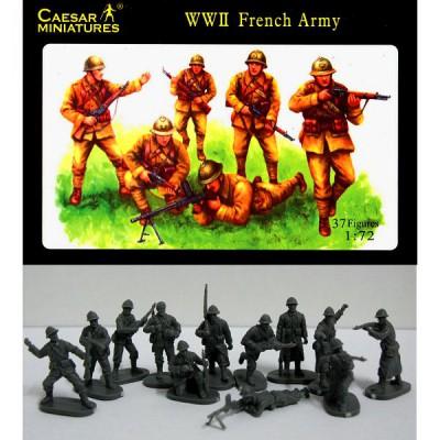 Caesar Miniatures figurines 2ème guerre mondiale : fantassins armée française 1939-1940