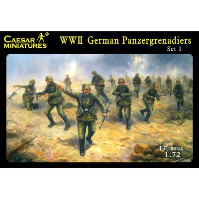 Caesar Miniatures figurines 2ème guerre mondiale : panzergrenadiers allemands 1943-1944