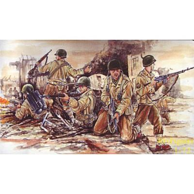 Caesar Miniatures figurines 2ème guerre mondiale : infanterie us army 1943-1945