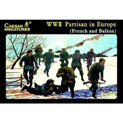 Caesar Miniatures figurines 2ème guerre mondiale : résistants et partisans: france et balkans