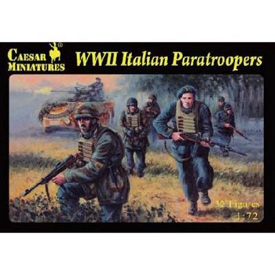 Caesar Miniatures figurines 2ème guerre mondiale : parachutistes et troupes spéciales italiennes