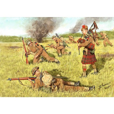 Master Box Figurines 2ème Guerre Mondiale : Scotland the Braves ! : 1944