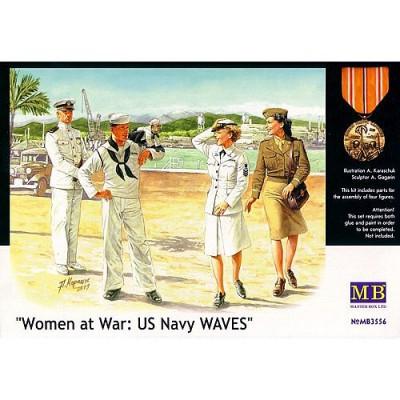 Master Box figurines 2ème guerre mondiale : femmes au combat: us navy waves