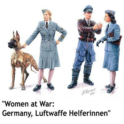 Master Box figurines 2ème guerre mondiale : femmes au combat: luftwaffe helferinnen
