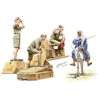 Master Box Figurines 2ème Guerre Mondiale : Tankistes allemands Afrika Korps et civil arabe