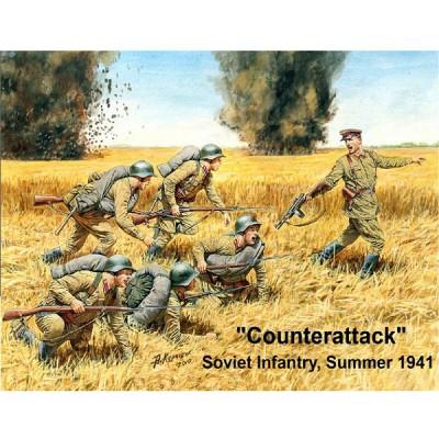 Master Box figurines 2ème guerre mondiale : contre-Attaque armée soviétique: eté 1941-1942