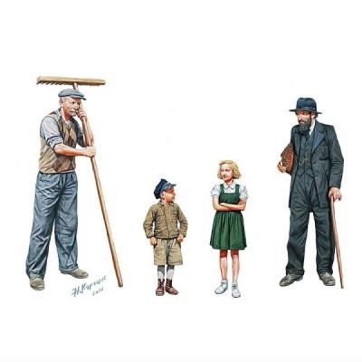 Master Box figurines 2ème guerre mondiale : civils europe de l'ouest 1944