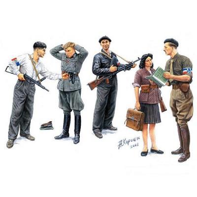 Master Box figurines 2ème guerre mondiale : maquis: résistants français 1944