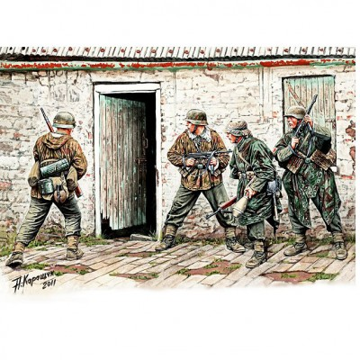 Master Box figurines 2ème guerre mondiale : panzergrenadier allemands: front ouest 1944-1945