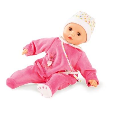 Gotz Poupon Muffin 33 cm : Pyjama rose et bonnet blanc à pois