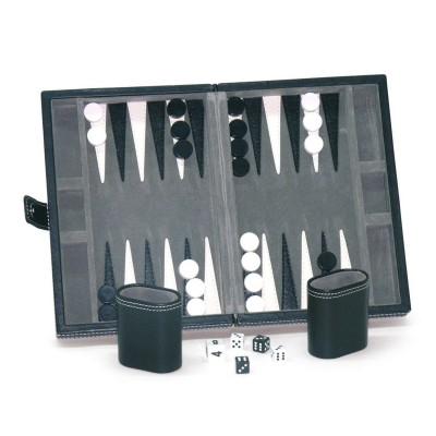 France Cartes backgammon façon cuir noir
