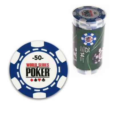 France Cartes 25 jetons de poker : 50