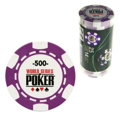 France Cartes 25 jetons de poker : 500