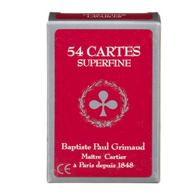 France Cartes jeu de 54 cartes grimaud superfine : rouge