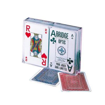 France Cartes jeu de 54 cartes coffret bridge optic : français