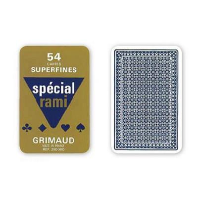 France Cartes jeu de 54 cartes grimaud : spécial rami : bleu