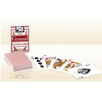 France Cartes Jeu de poker Grimaud Poker 516 : Rouge