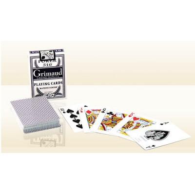 France Cartes Jeu de poker Grimaud Poker 516 : Bleu