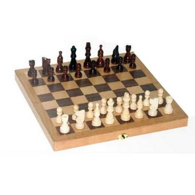 France Cartes coffret d'échecs en bois marqueté