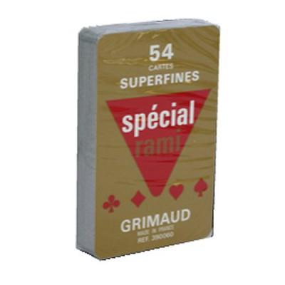 France Cartes jeu de 54 cartes grimaud : spécial rami : rouge