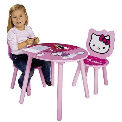 table et chaises en bois hello kitty eichhorn magasin de jouets pour enfants. Black Bedroom Furniture Sets. Home Design Ideas