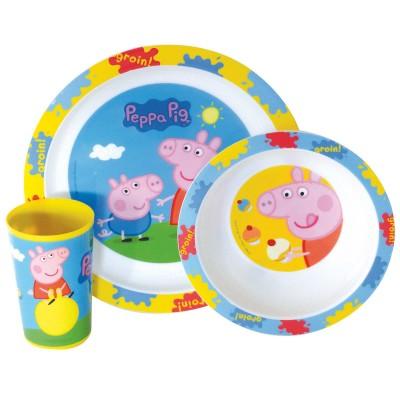 Fun House ensemble lunch 3 pièces peppa pig