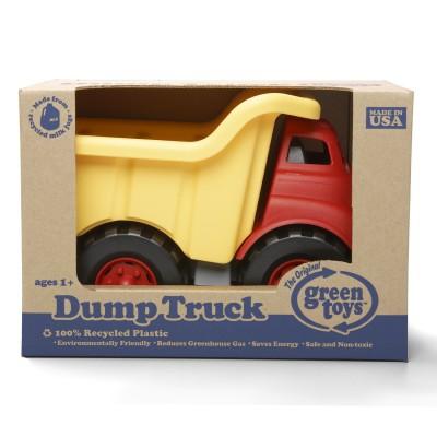 Green Toys le camion à benne rouge et jaune