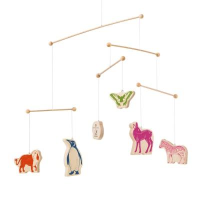 Bellybutton by selecta mobile en bois animaux