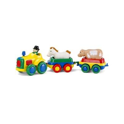 Bébé Découvertes tracteur à friction jaune et 2 animaux