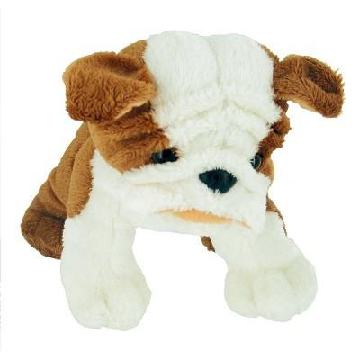 Soft Friends peluche chien 20 cm : blanc et marron museau écrasé