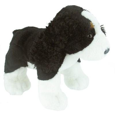 Soft Friends peluche chien 20 cm : noir et blanc