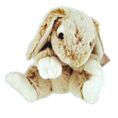Soft Friends peluche lapin 22 cm : blanc et beige