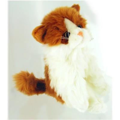Soft Friends peluche chat 23 cm : blanc et roux