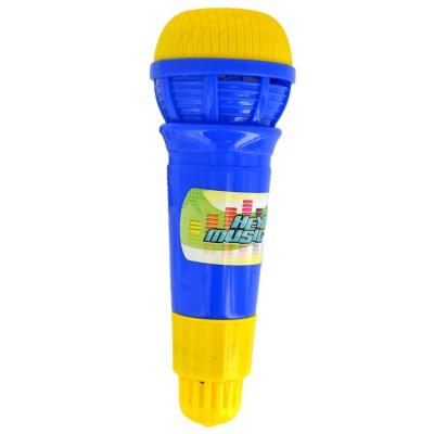 Hey Music micro echo 24 cm : bleu et jaune