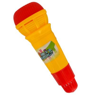 Hey Music micro echo 24 cm : jaune et rouge