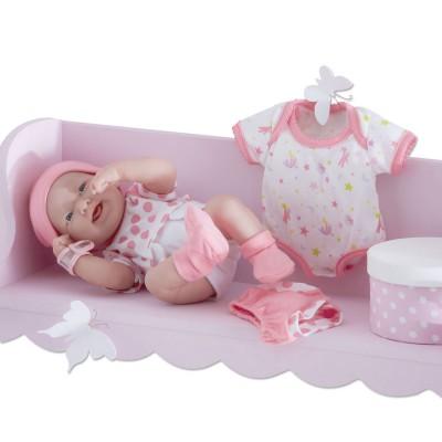 Poupon de 36 cm nouveau n sexu fille rose calinou magasin de jouets pour enfants - Berceau ou lit pour nouveau ne ...