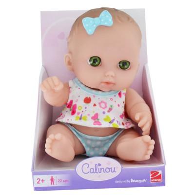 Calinou Poupée 22 cm : poupée blanche aux yeux verts